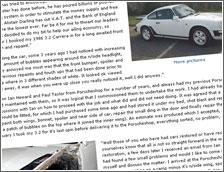 Phil's Porsche 911 3.2 Testimonial & Pictures
