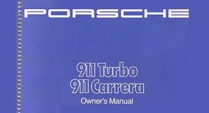 Porsche Owners Manuals, Service Books & Technical Specs